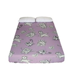 Doodle Bob Pattern Fitted Sheet (full/ Double Size)