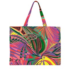Delight  Zipper Large Tote Bag