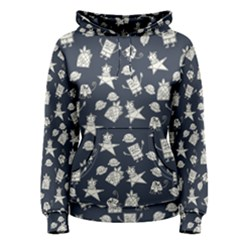 Doodle Bob Pattern Women s Pullover Hoodie