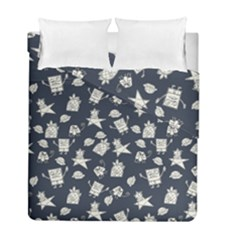 Doodle Bob Pattern Duvet Cover Double Side (full/ Double Size)