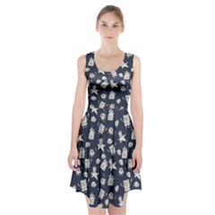 Doodle Bob Pattern Racerback Midi Dress