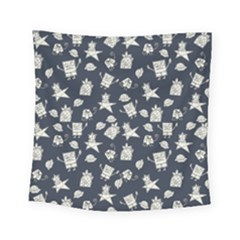 Doodle Bob Pattern Square Tapestry (small)