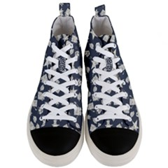Doodle Bob Pattern Men s Mid Top Canvas Sneakers