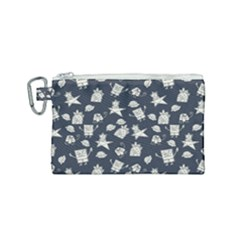 Doodle Bob Pattern Canvas Cosmetic Bag (small)