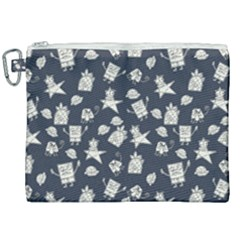 Doodle Bob Pattern Canvas Cosmetic Bag (xxl)