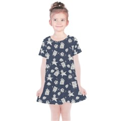 Doodle Bob Pattern Kids  Simple Cotton Dress