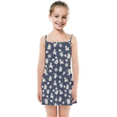 Doodle Bob Pattern Kids Summer Sun Dress