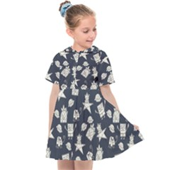 Doodle Bob Pattern Kids  Sailor Dress