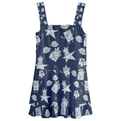 Doodle Bob Pattern Kids  Layered Skirt Swimsuit