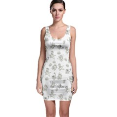 Doodle Bob Pattern Bodycon Dress
