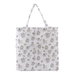 Doodle Bob Pattern Grocery Tote Bag