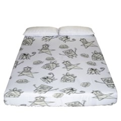 Doodle Bob Pattern Fitted Sheet (king Size)