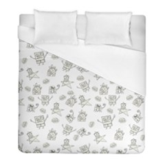 Doodle Bob Pattern Duvet Cover (full/ Double Size)