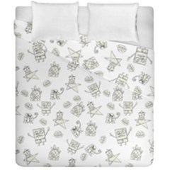 Doodle Bob Pattern Duvet Cover Double Side (california King Size)
