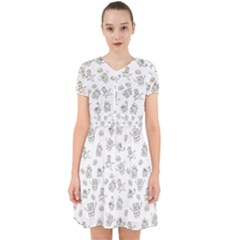 Doodle Bob Pattern Adorable In Chiffon Dress