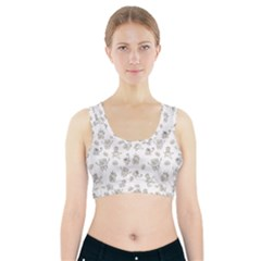 Doodle Bob Pattern Sports Bra With Pocket