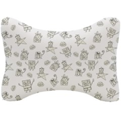 Doodle Bob Pattern Seat Head Rest Cushion