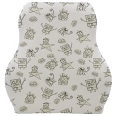 Doodle Bob Pattern Car Seat Velour Cushion  by Valentinaart