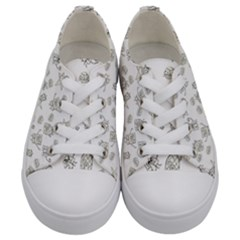 Doodle Bob Pattern Kids  Low Top Canvas Sneakers