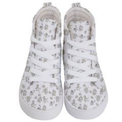 Doodle Bob Pattern Kid s Hi Top Skate Sneakers