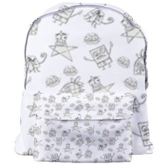 Doodle Bob Pattern Giant Full Print Backpack