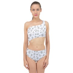Doodle Bob Pattern Spliced Up Two Piece Swimsuit