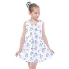 Doodle Bob Pattern Kids  Summer Dress