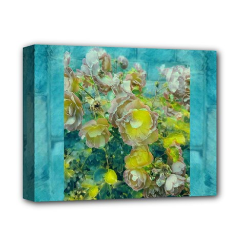 Bloom In Vintage Ornate Style Deluxe Canvas 14  X 11  (stretched) by pepitasart