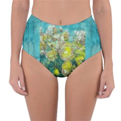 Bloom In Vintage Ornate Style Reversible High Waist Bikini Bottoms