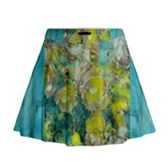 Bloom In Vintage Ornate Style Mini Flare Skirt
