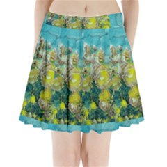 Bloom In Vintage Ornate Style Pleated Mini Skirt