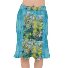 Bloom In Vintage Ornate Style Mermaid Skirt