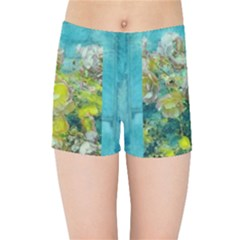 Bloom In Vintage Ornate Style Kids Sports Shorts