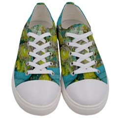 Bloom In Vintage Ornate Style Women s Low Top Canvas Sneakers
