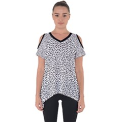 B/w Abstract Pattern 1 Cut Out Side Drop Tee