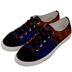 Colored Rusty Abstract Grunge Texture Print Men s Low Top Canvas Sneakers by dflcprints
