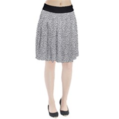 B/w Abstract Pattern 1 Pleated Skirt