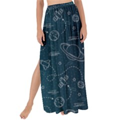 Retro Space Pattern Maxi Chiffon Tie Up Sarong