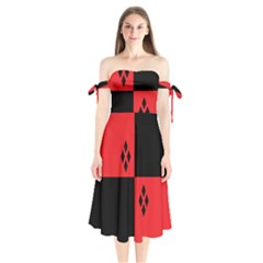 Harley Shoulder Tie Bardot Midi Dress by raeraeshescrafty