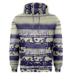 Abstract Beige Blue Lines Men s Pullover Hoodie
