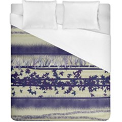 Abstract Beige Blue Lines Duvet Cover (california King Size)