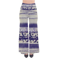 Abstract Beige Blue Lines So Vintage Palazzo Pants