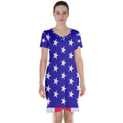 Day Independence July Background Short Sleeve Nightdress