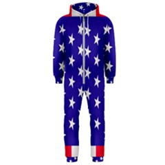 Day Independence July Background Hooded Jumpsuit (men)