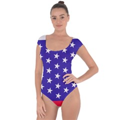 Day Independence July Background Short Sleeve Leotard