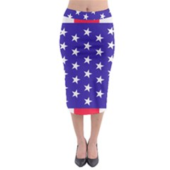 Day Independence July Background Midi Pencil Skirt