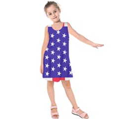 Day Independence July Background Kids  Sleeveless Dress