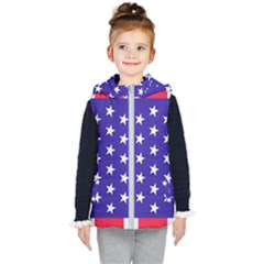 Day Independence July Background Kid s Hooded Puffer Vest