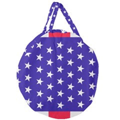 Day Independence July Background Giant Round Zipper Tote