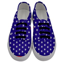 Day Independence July Background Men s Classic Low Top Sneakers